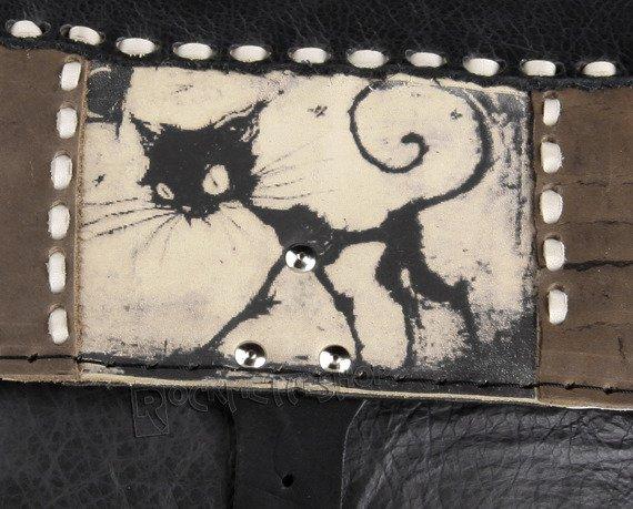 torebka skórzana mała FUNNY CAT