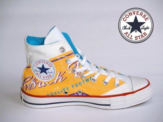 trampki CONVERSE CHUCK TAYLOR - ALL STAR  (WHITE/RUNNER YELLOW)