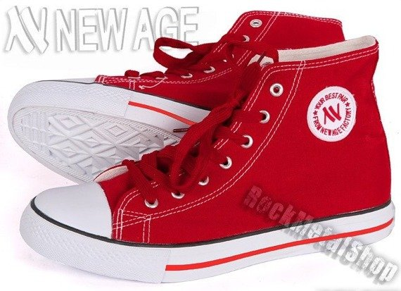 trampki NEW AGE - RED (081/082)
