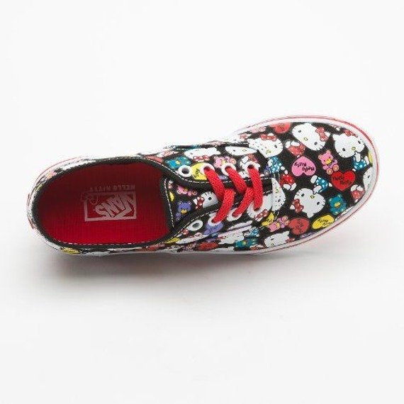 trampki damskie VANS  - AUTHENTIC LO PRO HELLO KITTY (BLACK/RED)