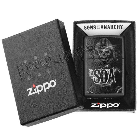 zapalniczka ZIPPO - SONS OF ANARCHY BLACK MATTE