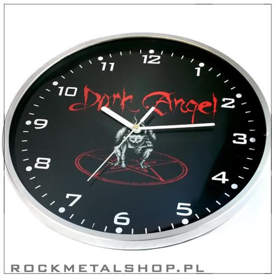 zegar ścienny DARK ANGEL (ramka metallic)