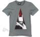 koszulka BATMAN ARKHAM CITY - DARK szara